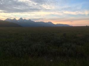 Sunset by Gros Ventre