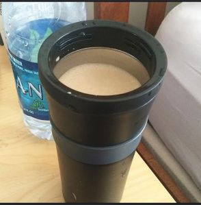 10 oz coffee, 1 tsp Kerrygold butter & 1 tsp coconut oil.